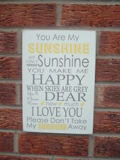 You Are My Sunshine Song Lyrics Wooden Sign Gift Idea plaque birthday gift