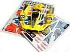 Bodywork Yellow With Adhesives Thunder Tiger PD7376-Y Body Set (Yellow) Art 6570