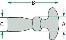 Granit Haubenhalter mittellang,120 mm über alles  20023180