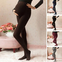 Womens Long Trousers Maternity Pants Solid Slim Fit High Waist Stretch Leggings