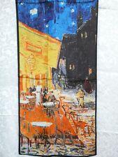 100% Silk Oblong Scarf Repo Van Gogh Night Cafe