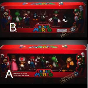 Super Mario Mini Figure Collection with Box Kids Boys Toys Yoshi Luigi Toad