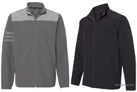 NEW Adidas - Climastorm 3-Stripes Water Resistant Soft Shell Full Zip Jacket