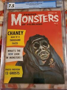 FAMOUS MONSTERS  OF FILMLAND ISSUE 8* CGC 7.5!!** *FREE SHIPPING**!