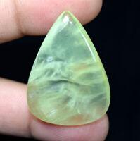 Peru Prehnite 100% Natural Cabochon 56.35 Cts. Pear Loose Gemstone