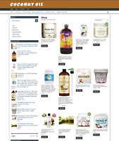 COCONUT OIL UK WEBSITE WITH 1 YEARS HOSTING & NEW DOMAIN - EAS HOME BUSINESS