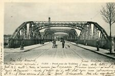 PARIS Pont rue de Tolbiac Employé au balayage
