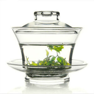 Chinese Tradition Gaiwan Thick Glass Tea Cup High Heat Resistant Tea Kung Fu Tea