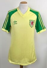 VINTAGE WALES 1983 ADIDAS AWAY PLAYER SHIRT No.15 SUPERB CONDITION