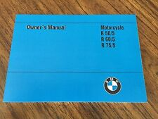 NEW VINTAGE BMW R50/5-R75/5 OWNERS MANUAL. BEAUTIFUL REPRODUCTION IN ENGLISH