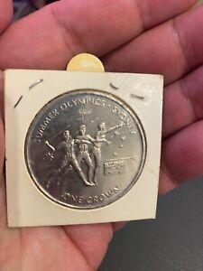 2000 Isle Of Man summer olympics 1 crown UNC