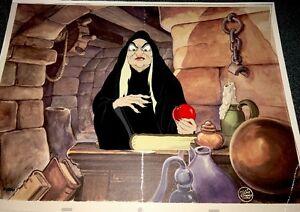 Disney Cel Snow White The Evil Witch From The Villains Portfolio Set Rare Cell