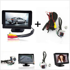 "Car License Screw Backup Reverse Front/Rear View Camera+4.3"" LCD Display Monitor"