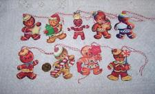 9~Christmas~Retro~Gingerb read~Glitter~Fussy Cut~Linen Cardstock~Gift~Hang~Tags