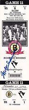Milt Schmidt Boston Bruins Autographed 1994 Boston Garden Full Ticket W/COA B
