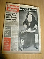 MELODY MAKER December 19th 1970 Edgar Broughton Ry Cooder ELP Slade Byrds
