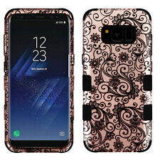 Samsung GALAXY S8 /PLUS Impact TUFF HYBRID Armor Rubber Rugged Case Phone Cover