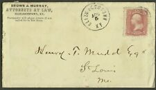 Elizabethtown/Ky. 1868 cds. w/letter to mother of a child