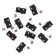 10 Pcs Mini Micro Limit Switch Roller Lever Arm SPDT Snap Action LOT TS