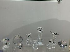 Swarovski Crystal Figurine Lot of 9 Small/Med Figurines Starter Set Collection