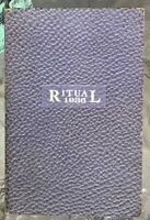 1936 NATIONAL WOMAN'S RELIEF CORPS RITUAL GAR Grand Army of The Republic WOMEN