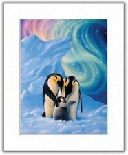 Beautiful Matted Penguins Foil Art Print~Affordable Animal Art~8x10