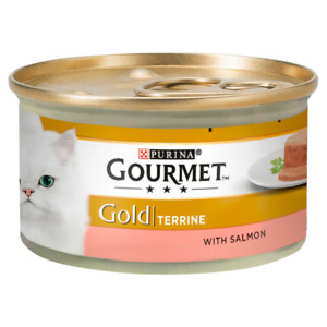 Gourmet Gold Salmon Terrine Cat Food 12x85g FREE NEXT DAY DELIVERY