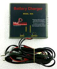 CAR Bike Battery Charger / Lead Acid 12V Battery Charger - 3 Amps