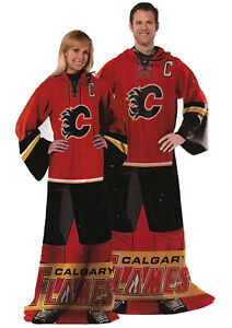 NHL Comfy Throw, The Blanket With Sleeves, Calgary Flames