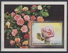 Umm al qiwain 1972 ** bl.56 flores Flowers flora rosas Roses