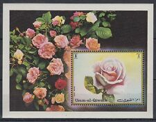 Umm al Qiwain 1972 ** Bl.56 Blumen Flowers Flora Rosen Roses