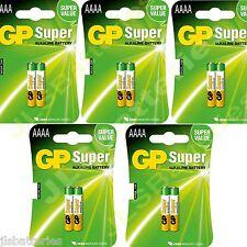 10x AAAA GP SUPER Batteries MN2500 1.5V E96 LR8D425 Alkaline battery 5 X 2 packs
