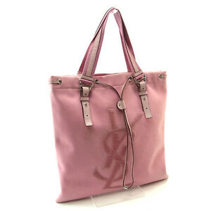 Saint Laurent Tote bag Pink Silver Woman Authentic Used Y1916