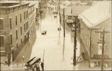 Montpelier VT East State St. Flood Real Photo Postcard dcn