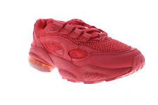 Puma Cell veneno Rojo para Hombres Rojo Gamuza & Malla LOW TOP SNEAKERS Zapatos