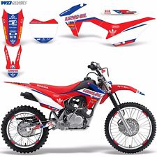 Graphic Kit Honda CRF125F  Decal Wrap w/ Backgrounds + Rim Stickers CRF 125F LO
