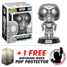 FUNKO POP STAR WARS DEATH STAR DROID NYCC 2017 EXCLUSIVE + FREE POP PROTECTOR