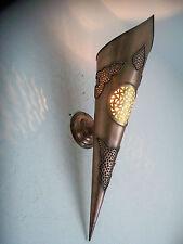 50 cm! antorcha de pared mural marroquí hierro forjado patinado cobre
