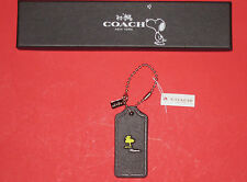 NWT Coach X Peanuts 1st Edition Woodstock Leather Hangtag Key Fob Ring Rare