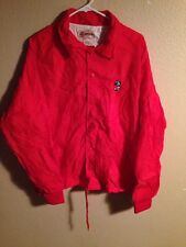 Vintage Antigua Disney Mickey Mouse Golf Button Down Adult Xl Mens Red Jacket