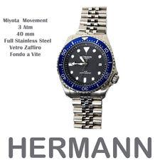 Orologio Hermann da Uomo Automatico Miyota Citizen 8215 Blu