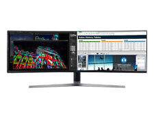 """SAMSUNG 49"""" Curved QLED Ultra Wide 3840x1080 Gaming Monitor 144Hz LC49HG90DMEXXY"""