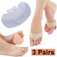 6X Soft Silicone Gel Toe Forefoot Pad Metatarsal Foot Cushion Pain Relief US