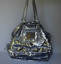 Coach Poppy Sequin XL Spotlight Tote Bag No 13838 Silver