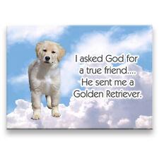 Golden Retriever True Friend From God Fridge Magnet No 1