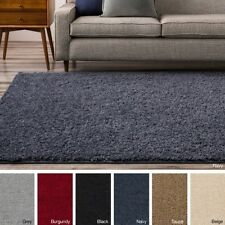 9' x 12' Shag Area Rug Rugs Black Brown Gray Navy Beige Grey Burgandy Red 9 12