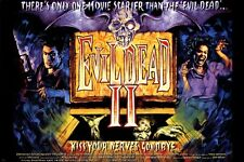 EVIL DEAD II movie poster CAMPY HORROR spooky zombies SUSPENSE new 24X36