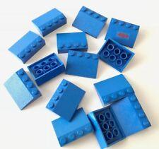 LEGO 14X BRICK SLOPE CURVI INCLINATI 3X4 BLU LOTTO KG SPED GRATIS SU + ACQUISTI