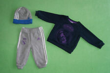 Adidas grey navy blue tracksuit with hat for boy 6-9 months 74 cm Real Madrid CF