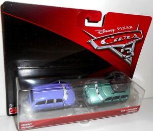 Cars 3 - MINNY Mini & VAN, 2-Pack, Disney Pixar Cars 1:55 diecast toys brand new